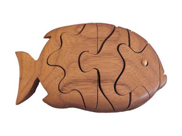 Ecowoods 3D Holzpuzzle Piranha